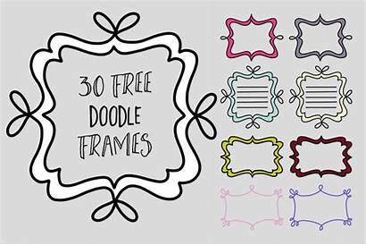 Doodle Frames Frame Clip Thehungryjpeg Graphics Doodles