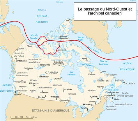 Carte Du Canada Le Monde En Marche by Canada Passage Du Nord Ouest Carte Populationdata Net