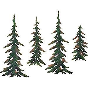 amazoncom evergreen pine tree metal wall decor set
