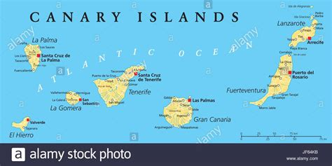Map Of Canary Islands And Spain And Travel Information