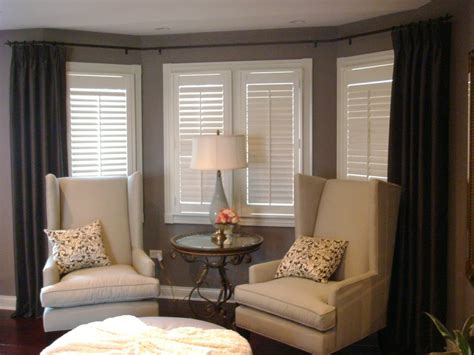 curtain rods for bay windows bedroom traditional with bay