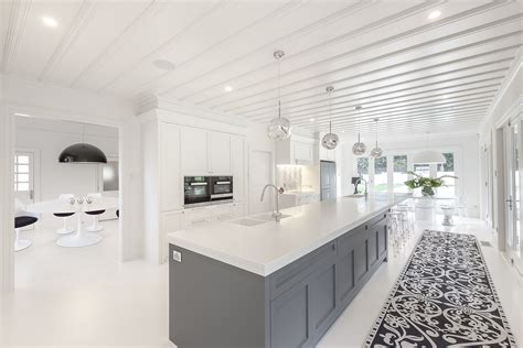white corian seamless corian benchtop brings style to matamata kitchen