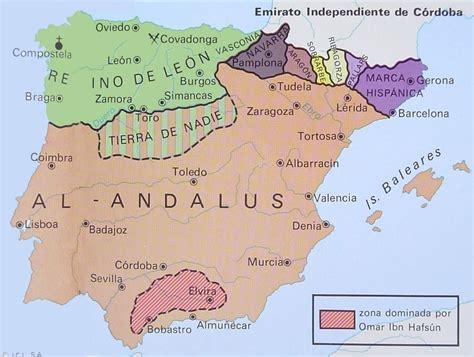 andalus al cordoba history map caliphate peninsula iberian 711 moorish during 1492 islam ages middle brief spain andalusia emirate barcelonas
