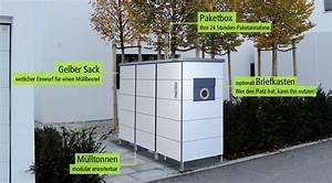 Mülltonnenbox Mit Paketbox : m lltonnenbox mit integrierter paketbox und auf wunsch mit ~ Michelbontemps.com Haus und Dekorationen