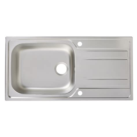 cooke and lewis kitchen sinks utility 1 bowl polished stainless steel sink drainer 8328