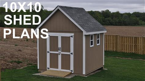 Storage Shed Designs by 10x10 Shed Plans And Storage Shed Designs