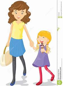 Mother and daughter stock vector. Illustration of smiling ...