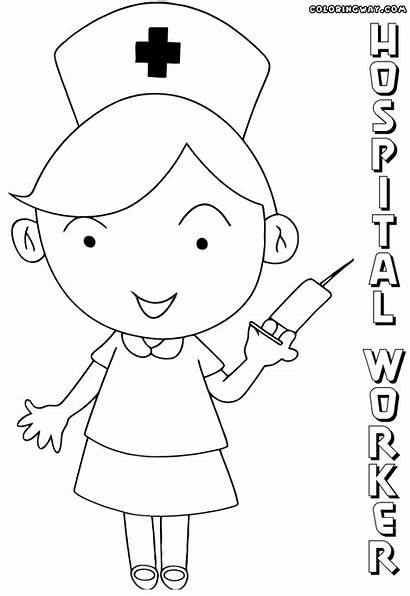Hospital Coloring Pages Building Colorings