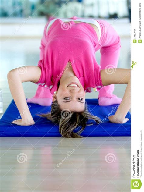 gym girl bending  royalty  stock images
