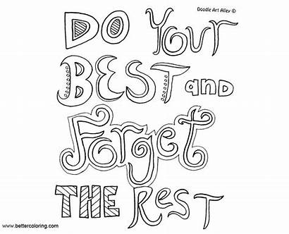 Mindset Growth Coloring Pages Quotes Rest Forget
