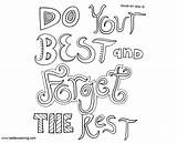 Mindset Coloring Growth Pages Quotes Rest Forget Printable Adults sketch template