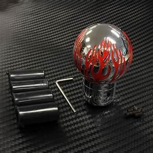 Red Fire Flame Pattern Aluminum Ball Manual Mt Gear Stick