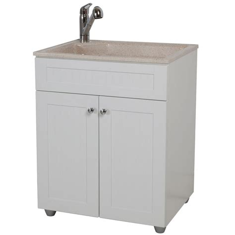 home depot laundry sink glacier bay all in one 27 in w x 21 8 in d colorpoint