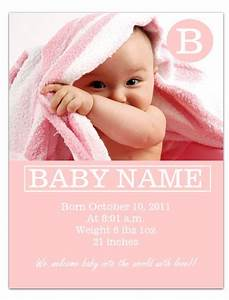 Worddrawcom free baby announcement template for for Free online birth announcements templates