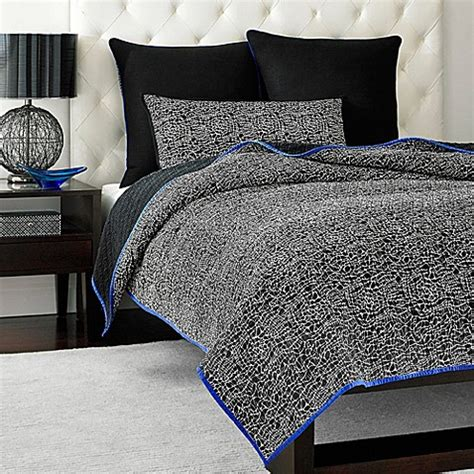 Lace Coverlet Bedding by Vince Camuto Milan Abstract Lace Coverlet Bed Bath Beyond