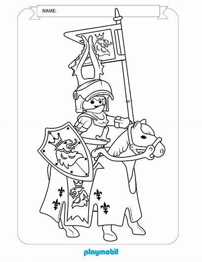 Playmobil Coloring Knights Sheet