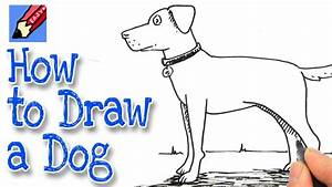 How to Draw a Dog Real Easy - YouTube