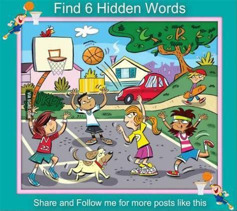 find   hidden words   picture games