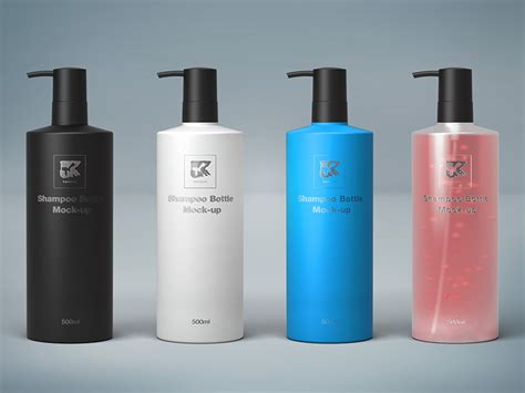 500ml Shampoo Bottle Mock-up By Kenoric