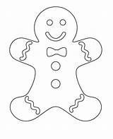 Coloring Gingerbread Pages Colouring Christmas Winter Crafts Holiday Xmas Sheets Printable Preschool sketch template