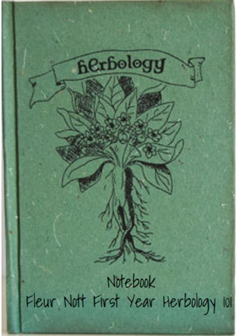 herbology book quot my herbology notebook quot hogwarts library