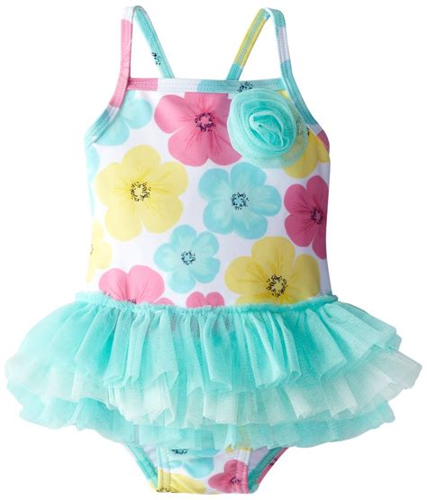 baby girls hibiscus tutu  piece swimsuit