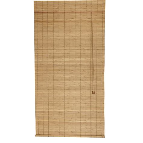shop style selections spice light filtering bamboo roll  shade common   actual