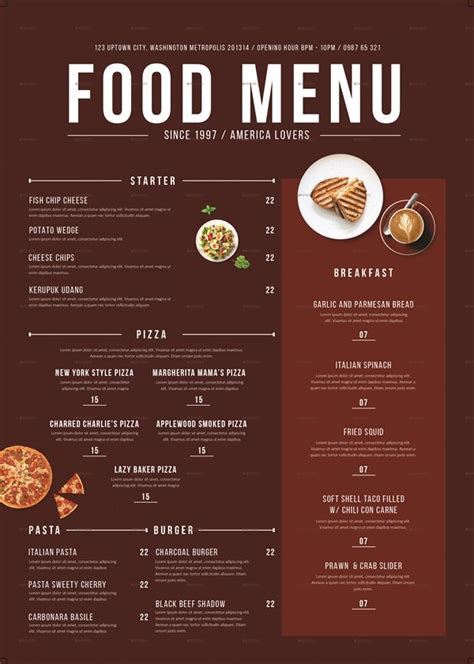 creative restaurant menu design ideas   trick