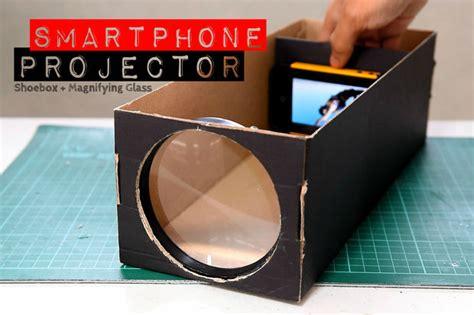 build  smartphone projector   shoebox