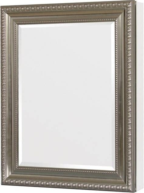 pegasus sp4596 24 quot x 30 quot deco framed medicine cabinet brushed nickel modern bathroom