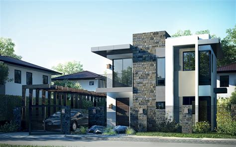 Double Floor New Modern House Design With Plan  Home Pictures