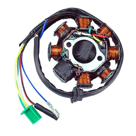 gy6 150cc stator wiring diagram new ac magneto stator 8 coil 8 pole 5 wire gy6 125cc 150cc atv scooter ebay