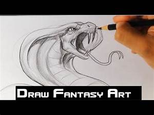 How to Draw a Snake - Draw Fantasy Art - YouTube