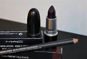 Cyber lipstick and Nightmoth lip liner by MAC.This ...
