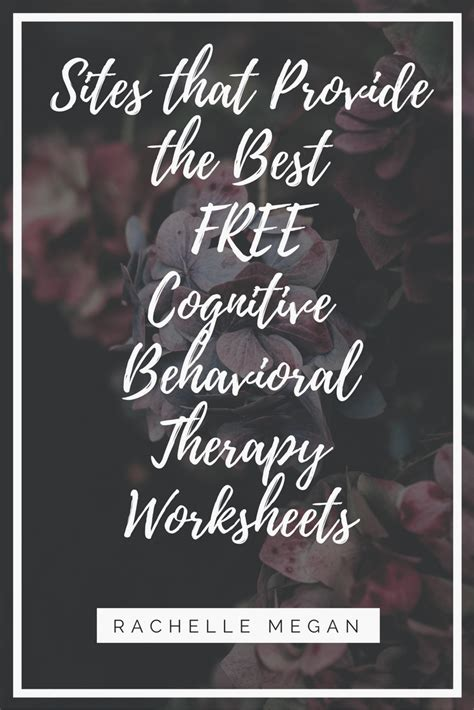Best Cbt Free Cbt Worksheets Best Cognitive Behavioral Therapy