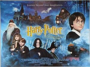 Harry Potter, Four British Quad film poster for The Philosop