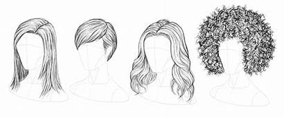 Draw Hair Drawing Hairstyles Sketch Step Wavy