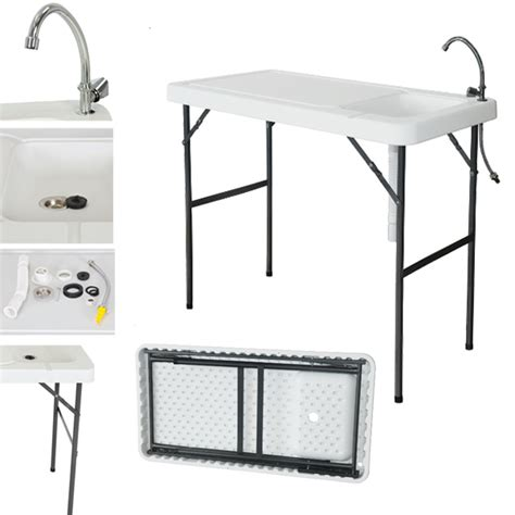 fish cleaning table with sink 2017 folding portable fish table hunting cleaning cutting