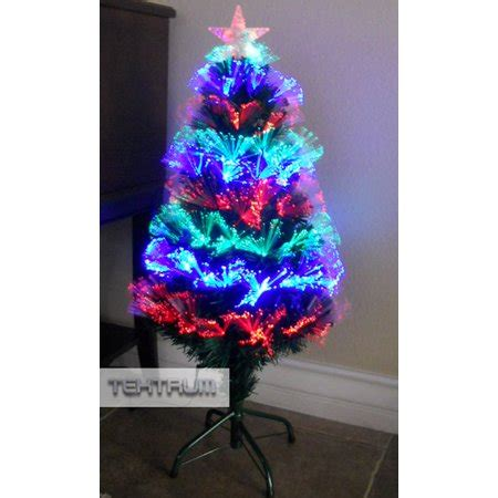 kasco colour changing led 2 6 ft fibre optic christmas tree tektrum 36 quot color changing fiber optic circular lights tree with led lighted top