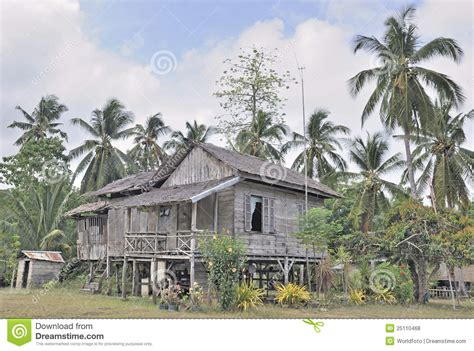 traditional rural house  philippines royalty  stock