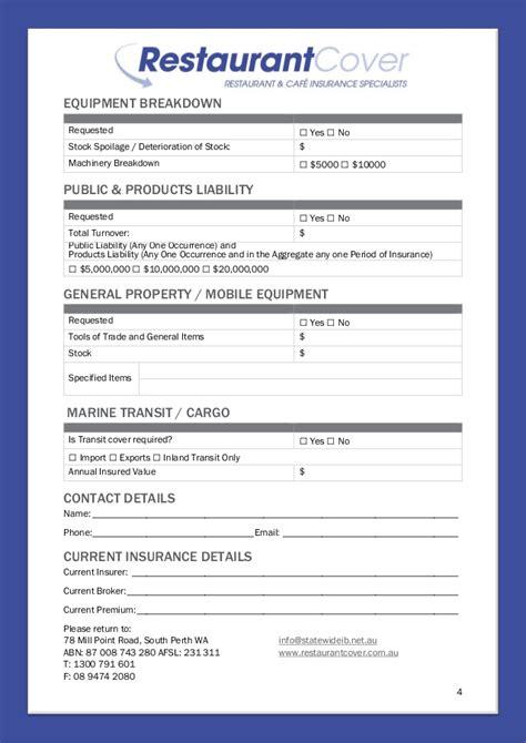 application cuisine restaurant cover application form