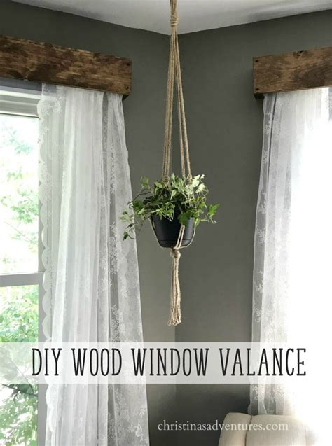 diy wood valance diy wood window valance christinas adventures