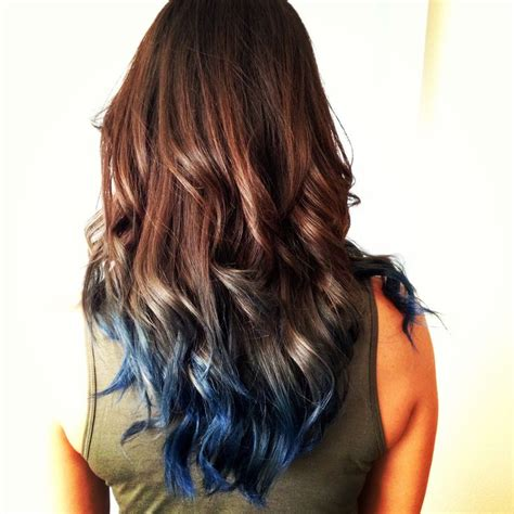 1000 Ideas About Blue Hair Highlights On Pinterest