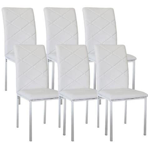 lot 6 chaises blanches chaise de cuisine blanche pas cher maison design bahbe com