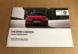 Genuine Bmw 3 Series F30 F31 Quick Reference Guide Manual