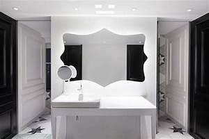 Déco Salle De Bain Noir Et Blanc : appartement chinois d co color e salle de bain noir et blanc r tro chic ~ Melissatoandfro.com Idées de Décoration