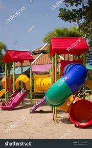 A Colourful Children Playground Equipment Stock Photo ...