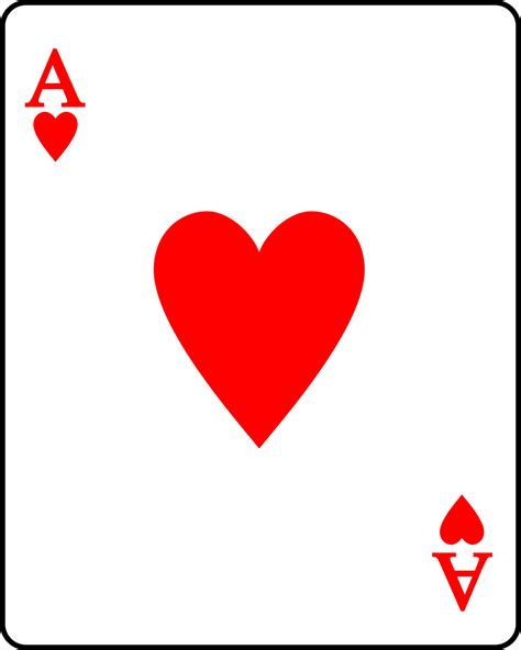 image result  playing card template ace hearts
