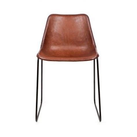 giron brown leather iron chair dining at its finest