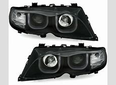 2 FEUX PHARE AVANT ANGEL EYES LED TUBE 3D BMW SERIE 3 E46